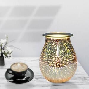 3D Glass Electric Wax Melt Warmer Aroma Night Lamp Oil Burner Diffuser Firework