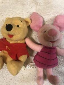 """arco toys pooh and piglet 7"""" Disney Plush"""