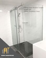 2200mm SHOWER ENCLOSURE SLIDING DOOR 10mm Glass FRAMELESS Shower Screen
