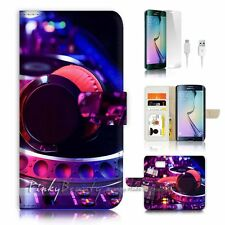 ( For Samsung S7 Edge ) Wallet Case Cover P2045 DJ Music