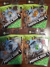 MINECRAFT Collectible Figures SERIES 1 Set of 4 - 3 pack Snow Wolf Witch Pig