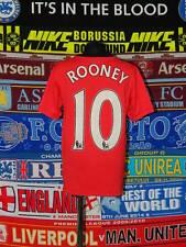 5/5 Manchester United boys 10/12 years #10 Rooney football shirt jersey trikot