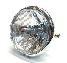 Motorcycle Headlight Assembly 5-3/4 Chrome Vintage Bates Style Cafe Racer