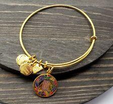 alex and ani bracelet Peace Love Music Rafalian Gold Tone