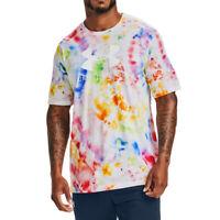 Under Armour Tie Dye T Shirt UA HeatGear Mens UWW Pride Graphic Loose Fit Top