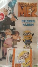 DESPICABLE ME 2, FULL SET OF STICKERS X144 + ALBUM
