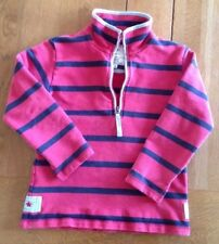 Joules Half Zipped Top, 8yrs To 9yrs, Red And Blue Striped, Free Postage.