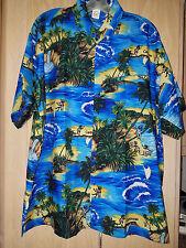 NWOT - XL  Creations Terivoile Caribbean Hawaiian Reggae ocean palm trees shirt