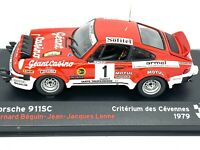 1:43 scale Altaya Porsche 911SC Rally Car - Bernard Beguin 1979 Diecast Model
