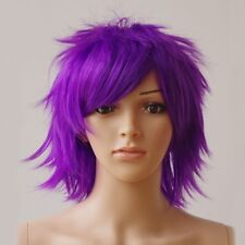 Cool Short Pixie Straight Cosplay Wig Csoplay Anime Party Hair Wig Blue Brwon #8