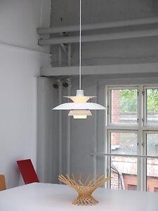 LOUIS POULSEN PH 5 danish modern design lamp DÄNEMARK vintage 70er denmark weiß