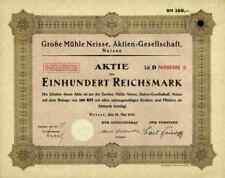 Große Mühle Neisse Nysa 1931 Langendorff Breslau Schlesien Polen 100 Mark Lit. D