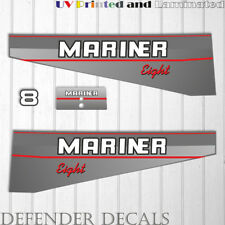 Mariner 8 hp outboard engine decal sticker set kit reproduction Two Stoke 1990's
