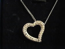 Swarovski Swan Signed Mozart Heart w/ crystals Necklace w/ Box and Tag