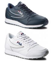 Scarpe Fila Orbit Uomo Sneaker Pelle Bianca Blu Sportiva Casual Lifestyle Moda