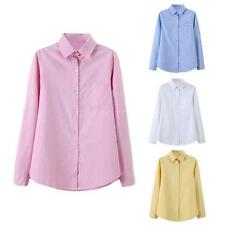 Polyester Collared Regular Size Tops & Shirts for Women