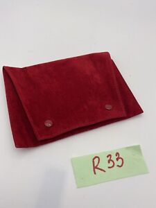 Cartier Suede Leather Jewelry Pouch Big Bag R33