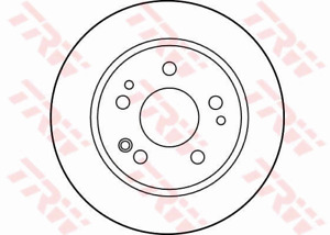 TRW Brake Rotor Pair Front DF1584S fits Mercedes-Benz 190 190 2.0 (W201) 66kw...