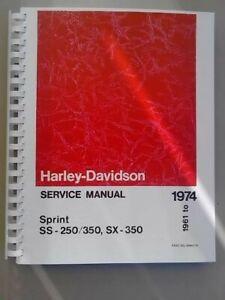Harley Davidson 1974 Repair Motorcycle Manuals And Literature For Sale Ebay