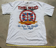 Vintage 1989 The Who 25 Anniversary Tour T-Shirt Kids Are Alright XL Band Tee