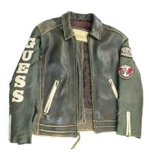 Vintage GUESS Jeans Company Leather Jacket Size M (see measurements)