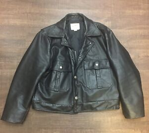 Taylor's Leatherwear 46 Police Motorcycle Biker Duty Cop Leather Jacket Cow USA