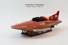 "Hydroplane Slo-mo-shun IV U-27 1950 Wooden Race Boat Model 30"" Scale 1:12"