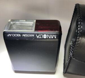 Minolta Maxxum 1800 AF Flash Unit For Minolta Maxxum Cameras W/Case