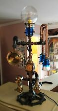 Steampunk Lamp-Art  (The Weather Station) Vintage Parts  - Tramp Insulators