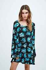 Minkpink In My Mind Floral Tunic Dress - Green/Black - XS - RRP £58 - New