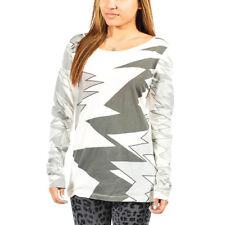Women's PUMA x Alexander McQueen Print LS Tee T-Shirt White/Grey sz S (T97) $80