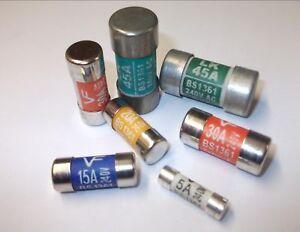 Consumer Unit Fuse Board Fuses 5Amp,15Amp,20Amp,30Amp,45Amp Electric Box Fuse