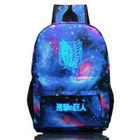 Anime Attack On Titan Galaxy Backpack School Bag Outdoor Sport Bag Sack Luminous