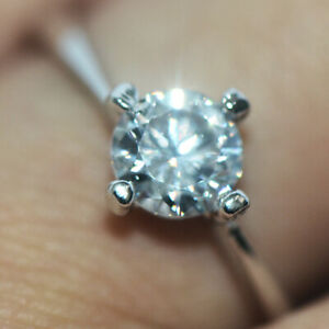 Wedding Party Rings Bridal Ring Crystal Rings Silver For Womens Girls Size 9