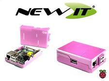 NEW - ModMyPi Pink case for Raspberry Pi Model B with GPIO Cut-Outs and Slots.