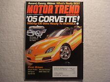 Motor Trend 2003 April Corvette Ford SVT Mustang Nissan 350Z Jaguar X Camry