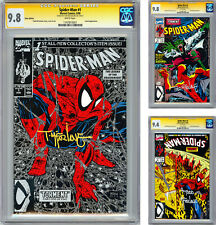 SPIDER-MAN #1-2-3 CGC-SS 9.8-9.8-9.4 PREMIERE ISSUES SIGNED TODD MCFARLANE 1990