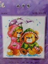 Rainy Day Teddy Bears Cross Stitch Kit