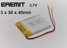 EREMIT Lithium Polymer LiPo Batterie Akku 300mAh 3.7 V 1S Powerbank PCB N14