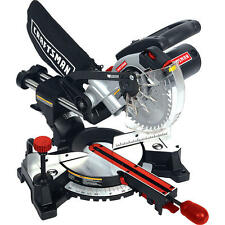 Craftsman 7 1/4 Inch Laser Trac Sliding Compound Miter Saw Bevel # SM1852RC