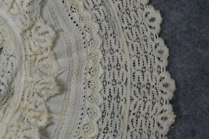 collar early period white cotton lace large 6 in. wide original 1800 very good