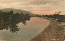 c1910 Hand-Colored Postcard; Erie Canal & Grand View, Utica NY Oneida County