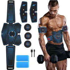 KM_ Muscle MassagerAbdominal Training Slimming Belt with USB Charging Cable Bo