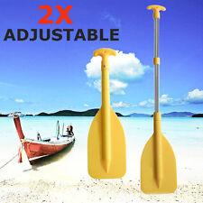 2019 Aluminum Adjustable Telescopic Compact Boat Paddles Oars Rafting Canoe 2pcs