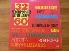 LP RECORD VINYL 32 NEDERPOPHITS UIT DE JAREN 60 Q65,BINTANGS,HOEKE,CUBY & BLIZZA