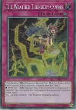YU-GI-OH CARD: THE WEATHER THUNDERY CANVAS - SECRET RARE  SPWA-EN040 1ST EDITION