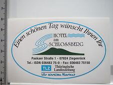 Aufkleber Sticker Ziegenrück - Hotel am Schloßberg (6036)
