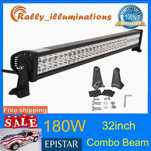 """32""""inch 180W LED Work Light Bar for JEEP Truck SUV Boat 4WD Ford 30"""" 31"""" 150W"""