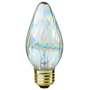 Satco S3369 40-Watt 120V Medium Base F15 Light Bulb, Aurora