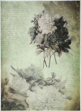 Papel De Arroz-Flores en GREEAN-Para Decoupage Scrapbooking Hoja